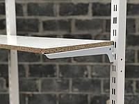 Полкодержатель усиленный 20см белый одинарный на перфорированную рейку