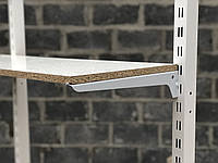 Полкодержатель усиленный 15см белый одинарный на перфорированную рейку