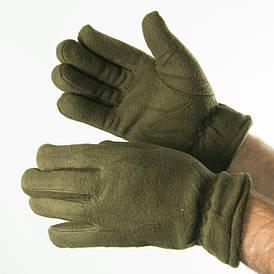Оптом мужские флисовые перчатки (хаки)  № 19-16-6