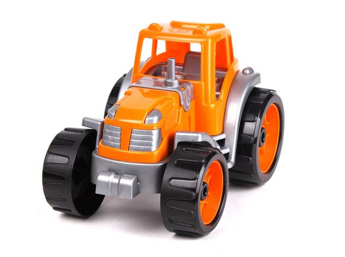 Детский игрушечный пластмассовый трактор.Детский трактор для малышей.