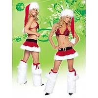 Маскарадный костюм на новый год  - Стриптиз от подружки Санты (Снегурочки)
