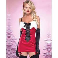 Новогоднее платье прекрасной подруги Санты (Деда Мороза)