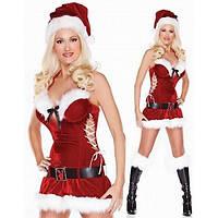 РАСПРОДАЖА! Новогодний костюм подружка Санты (Снегурочка)
