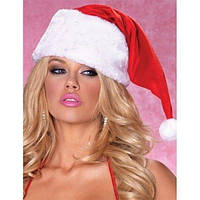 Новогодняя красная шапка с белым мехом