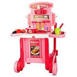 Игровой набор Bambi Кухня 008 927 на колесах , тележка, фото 2