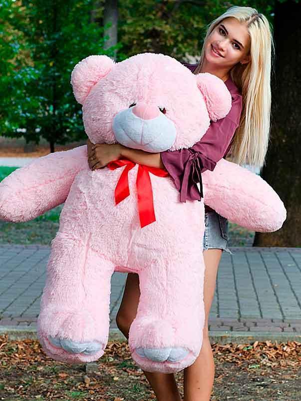 Плюшевый Мишка Ветли 130см Большой Мишка игрушка Плюшевый медведь Мягкие мишки игрушки Ведмедик (Голубой)