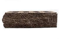 """Облицовочный кирпич Литос """"Скала"""" угловой тычковой пустотелый 230x100x65 мм Бордо, фото 1"""