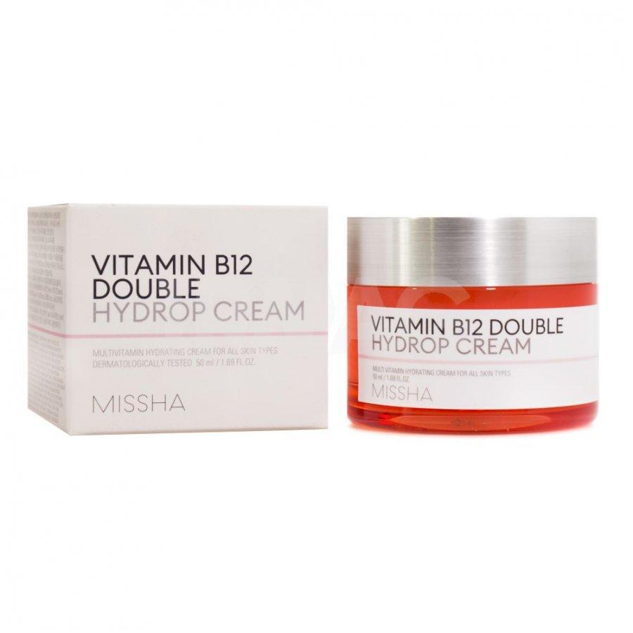 Крем для лица Missha Vitamin B12 Double Hydrop Cream, увлажняющий  с витамином В12