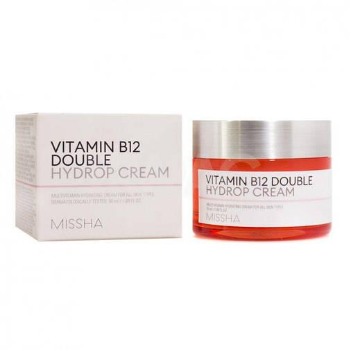 Крем для лица Missha Vitamin B12 Double Hydrop Cream, увлажняющий  с витамином В12, фото 2