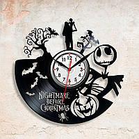 Ночь перед Рождеством Виниловые часы Nightmare Before Christmas Настенные часы Часы в детскую комнату