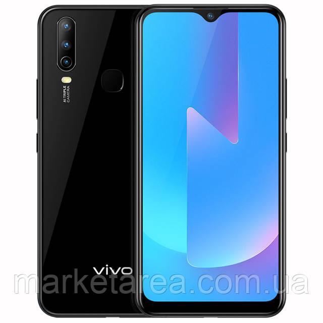 Смартфон черный с большим дисплеем и батареей большой емкости на 2 сим карты VIVO U3X 3/32Gb black