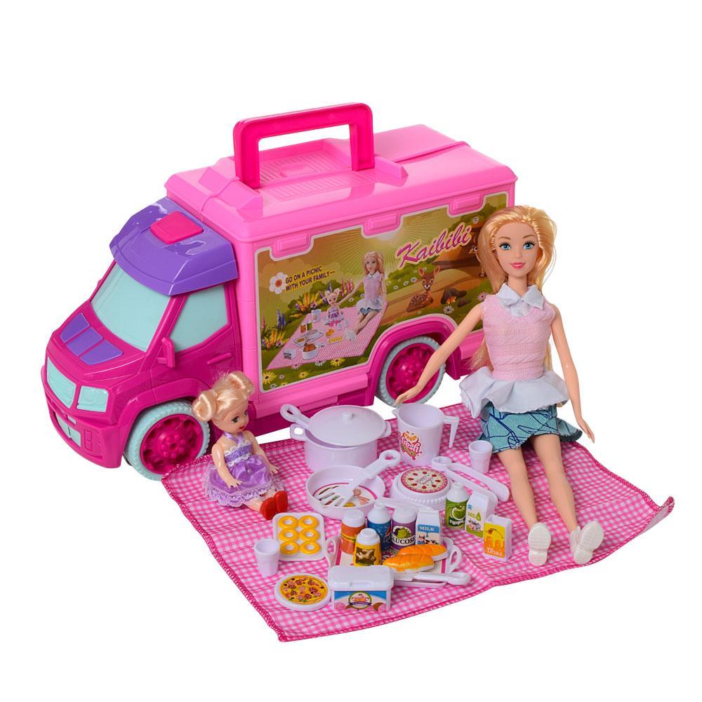Кукла с машиной для пикника BLD148 шарнирная