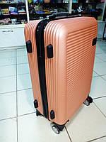 Дорожный чемодан пластиковый  на 4 колесах