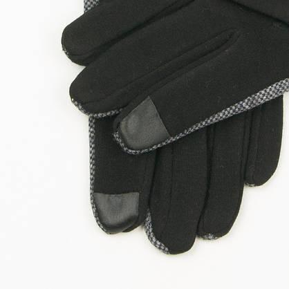 Оптом мужские трикотажные перчатки на плюше   № 19-22-2, фото 3