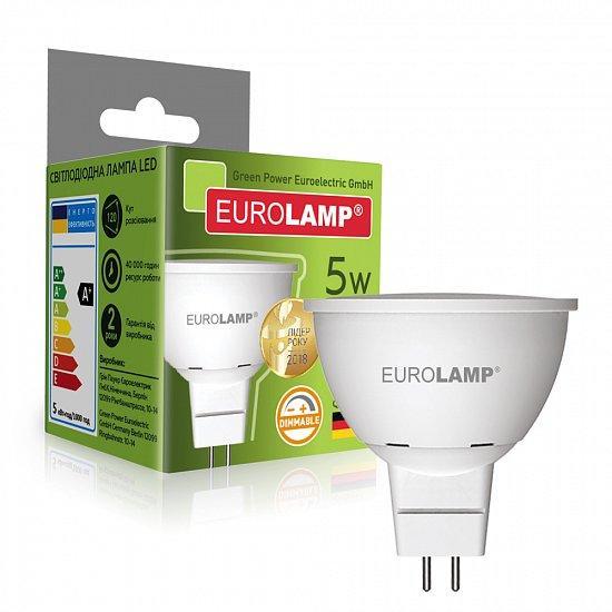 Диммируемая LED Лампа Eurolamp 5W GU5.3 4000K