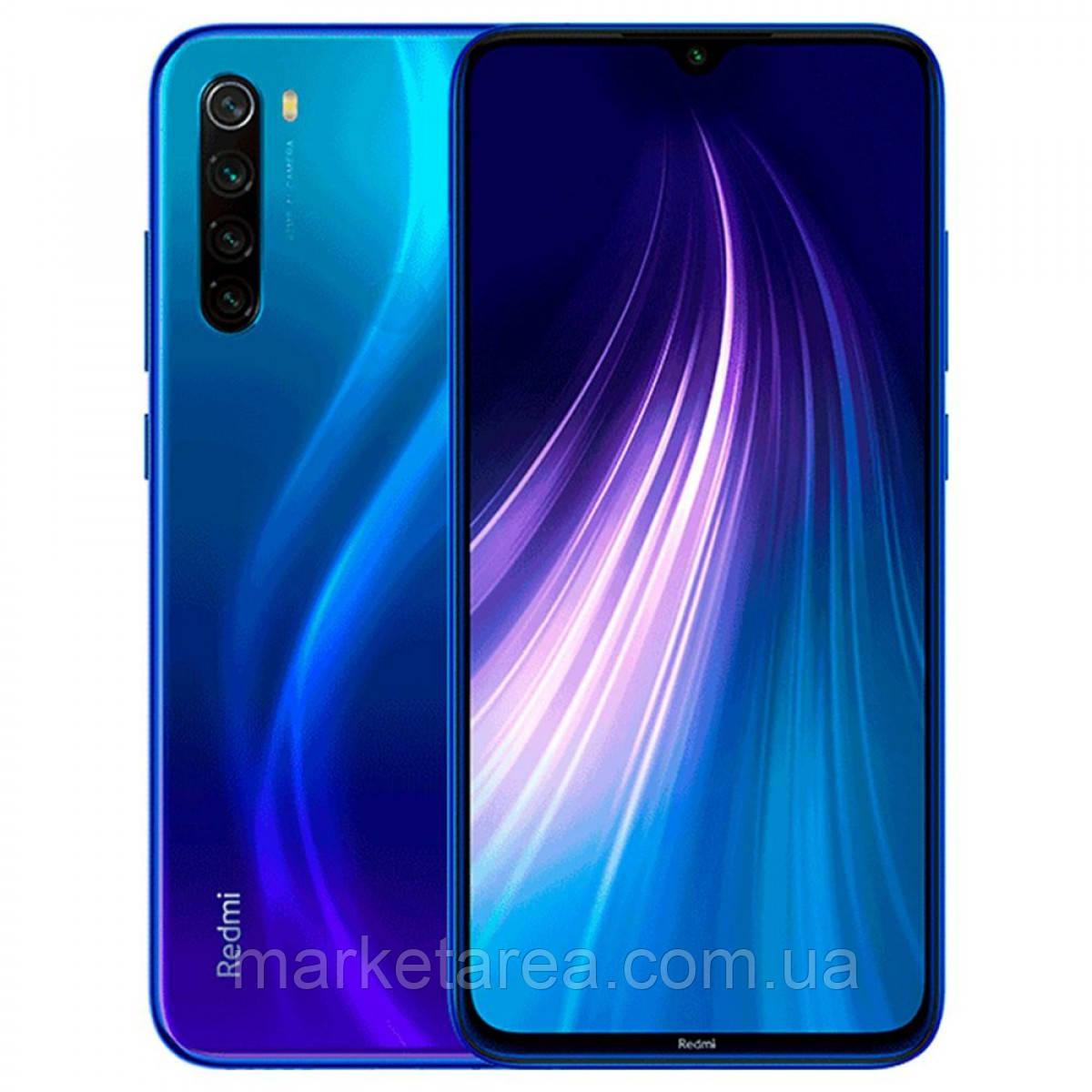 Смартфон ксиоми синий с хорошим аккумулятором большой емкости Xiaomi Redmi NOTE 8 4/64Gb blue Global Version
