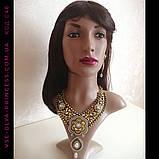 Кольє і сережки у східному стилі під золото, висота 12,5 див., фото 8