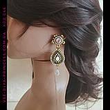Кольє і сережки у східному стилі під золото, висота 12,5 див., фото 9
