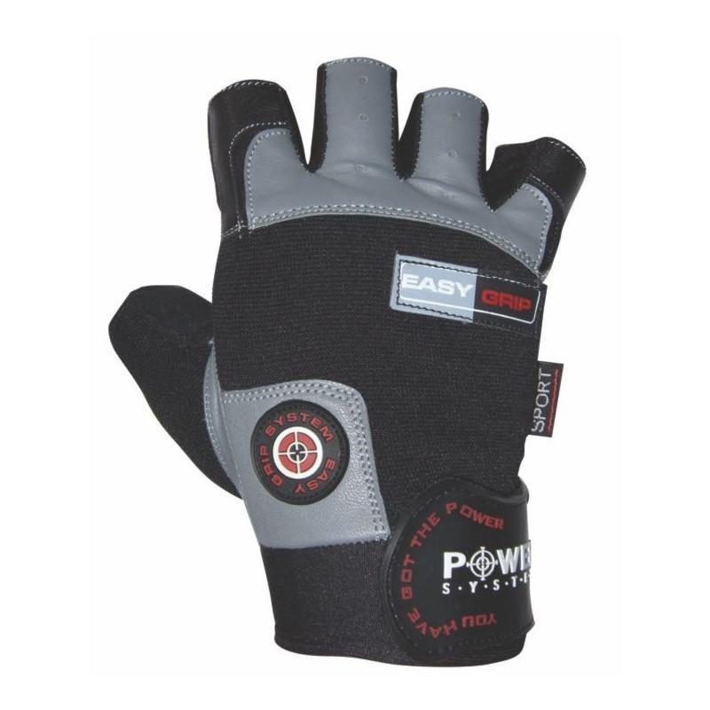 Перчатки для фитнеса и тяжелой атлетики Power System Easy Grip PS-2670 S Black/Grey