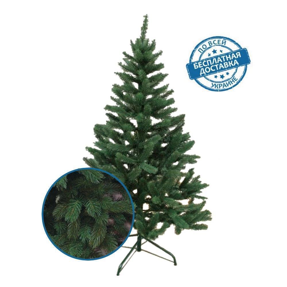 Президентская новогодняя елка зеленая искусственная литая хвоя 2,5 м пушистая ПРЕМИУМ класс
