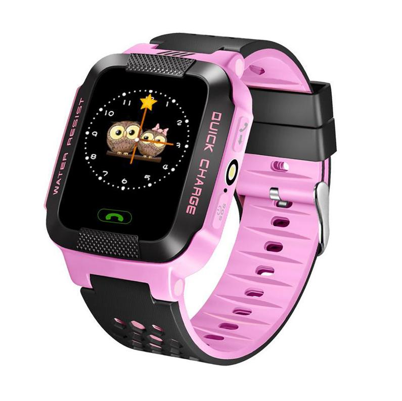 Детские наручные смарт часы Smart Baby Watch A15 Розовый