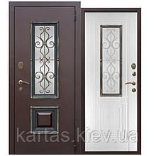 Входная дверь со стеклопакетом Венеция 75мм