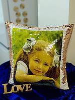 Подушка с фото, подарок на новый год