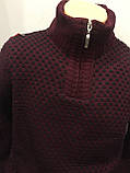 Теплый мужской свитер с высоким воротником на молнии M,L,XL, фото 2