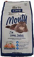Корм Brit Care Cat Monty I am Living Indoor для кошек живущих в помещении, 2 кг 132610 /5708