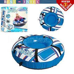 Дитячі сани - тюбінг Bestway 39006 ПОСИЛЕНІ синій, 127 см