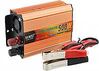 Преобразователь Ukc авто инвертор 12V-220V 500W Usb Gold (5361)