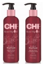 Набор для красоты и гладкости окрашенных волос CHI Rose Hip Oil Set