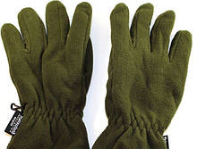 Перчатки флисовые двойные Тинсулейт, цвет Олива, № 13. Польша