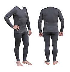 Термобілизна чоловіча Tramp Warm Soft чорний комплект (футболка + кальсони) TRUM-019 сірий