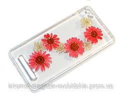 Чехол силиконовый Xiaomi Redmi 4a Natural Flowers