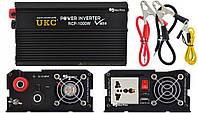 Профессиональный преобразователь инвертор Ukc 12V-220V RCP-1000W Usb Black (4144)