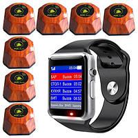 Cистема вызова официанта: сенсорные пейджер-часы официанта + 7 кнопок