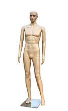 Мужской телесный манекен в полный рост на подставке