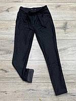 Стрейчевые кашемировые брюки на байке ( с карманами) для девочек. 134- 152 рост