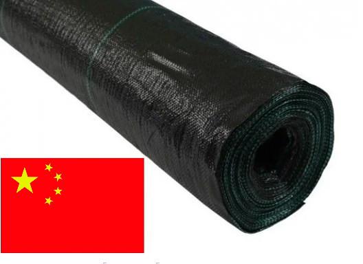 Агроткань 100г/кв.м 4м х 100м чёрная, мульчирующая, полипропиленовая Agreen (Китай), фото 1