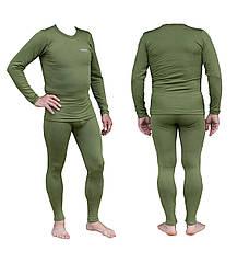 Термобелье мужское Tramp Warm Soft комплект (футболка + кальсоны) TRUM-019 оливковый