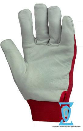 Перчатки рабочие теплые кожа с липучке (Польша), фото 2