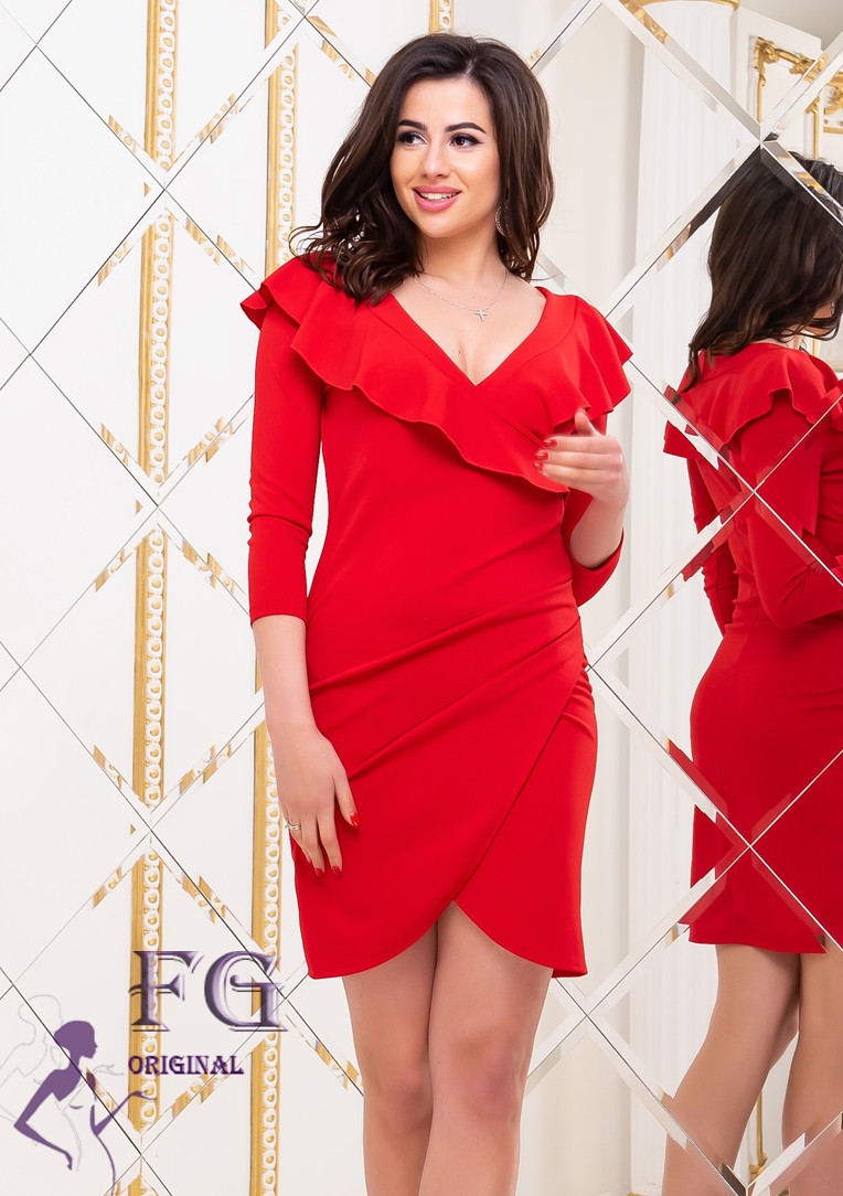 """Коктейльное платье """"Sindy""""  Красный"""