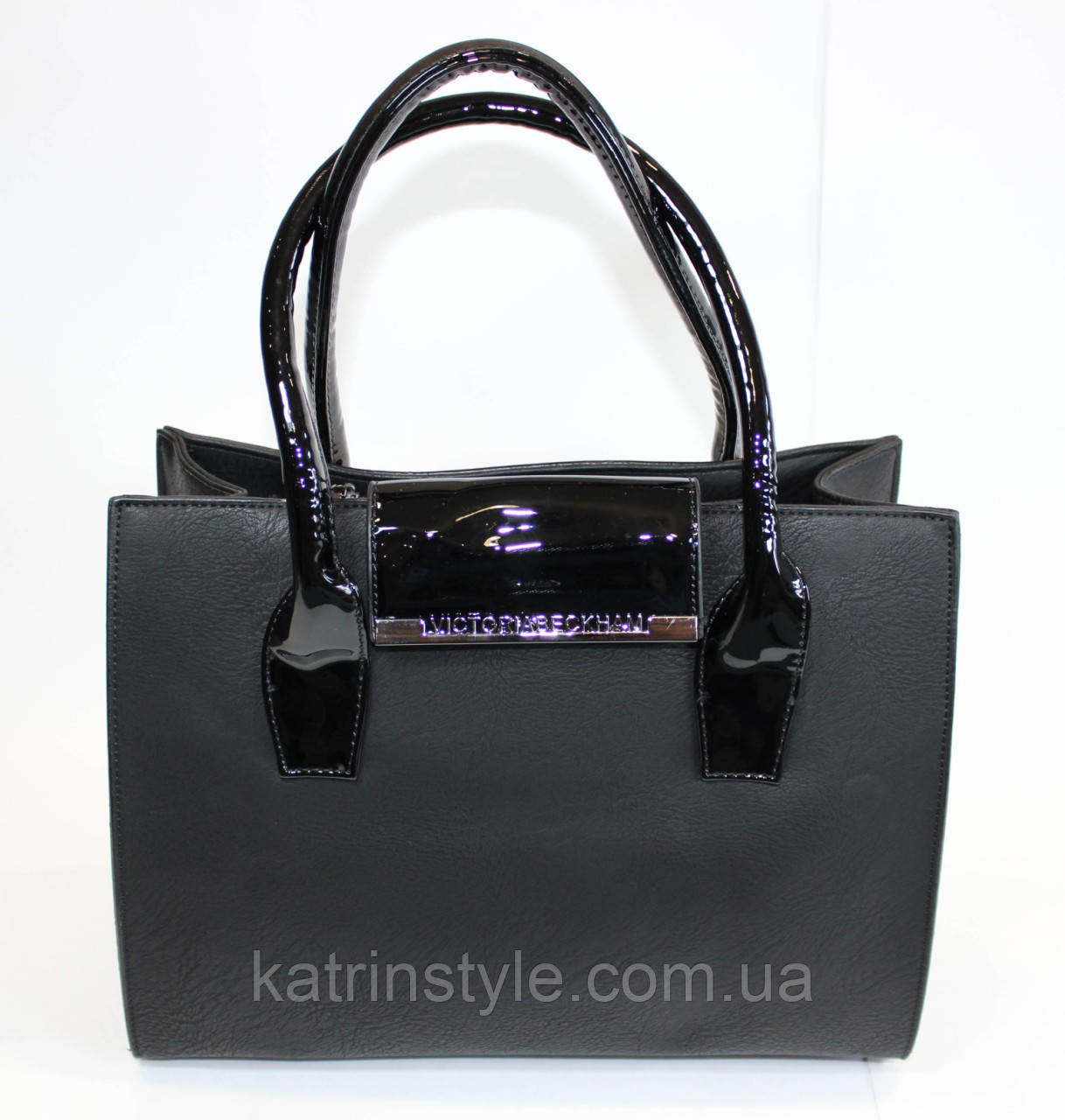 Женская классическая сумка в чёрном цвете