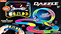 Детский игрушечный трек для машинок на пульте управления Dazzle Tracks 187 деталей   Конструктор трасса