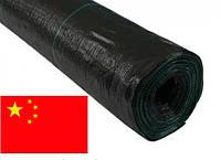 Агроткань 100г/кв.м 1,60м х 100м чёрная, мульчирующая, полипропиленовая Agreen (Китай), фото 1