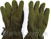 Перчатки флисовые двойные Тинсулейт, цвет Олива, № 15. Польша