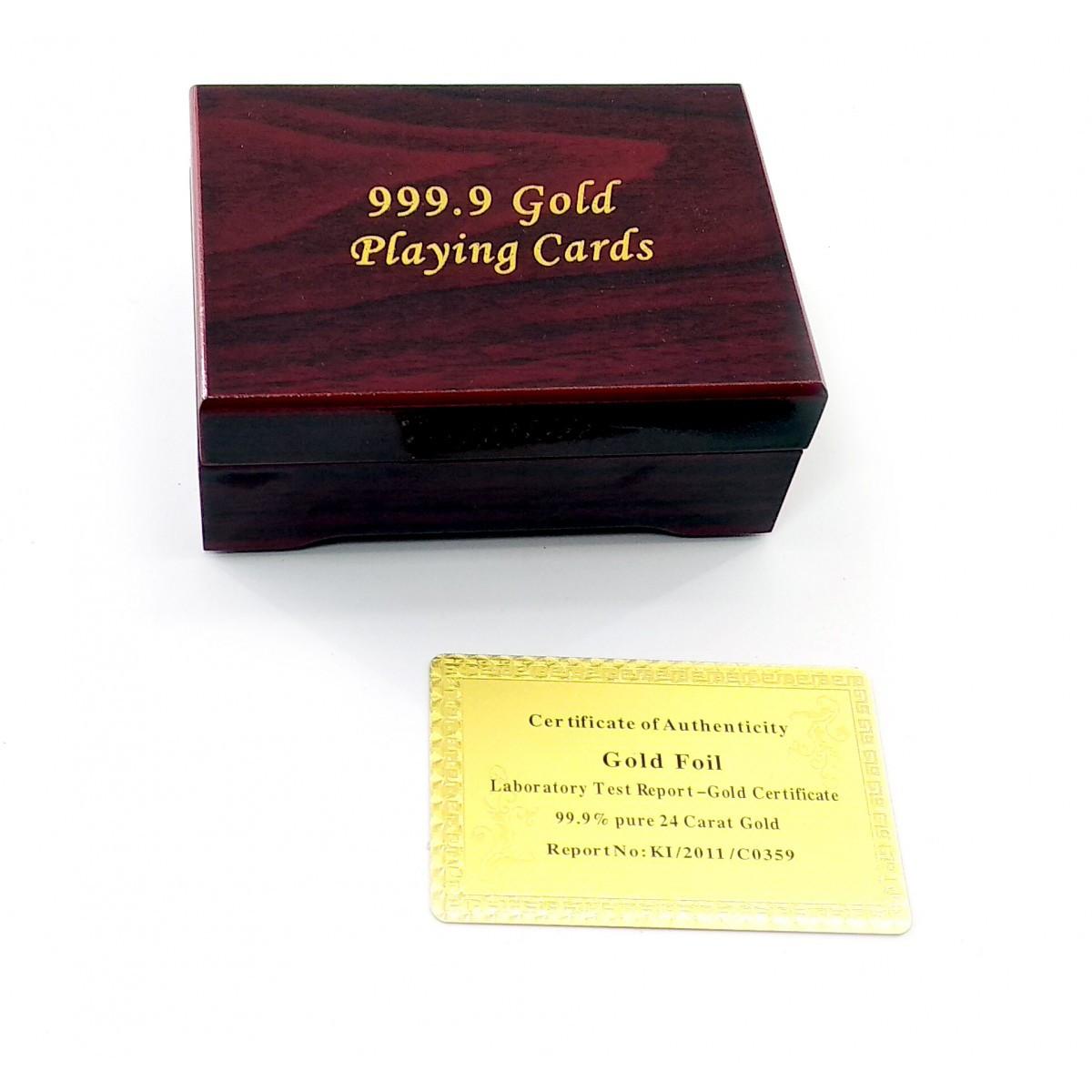 Карты игральные пластиковые отличного качества,  подарочные 100$, золото, с сертификатом, в роскошной шкатулке