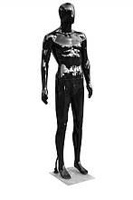 Мужской манекен черный  Аватар в полный рост на подставке