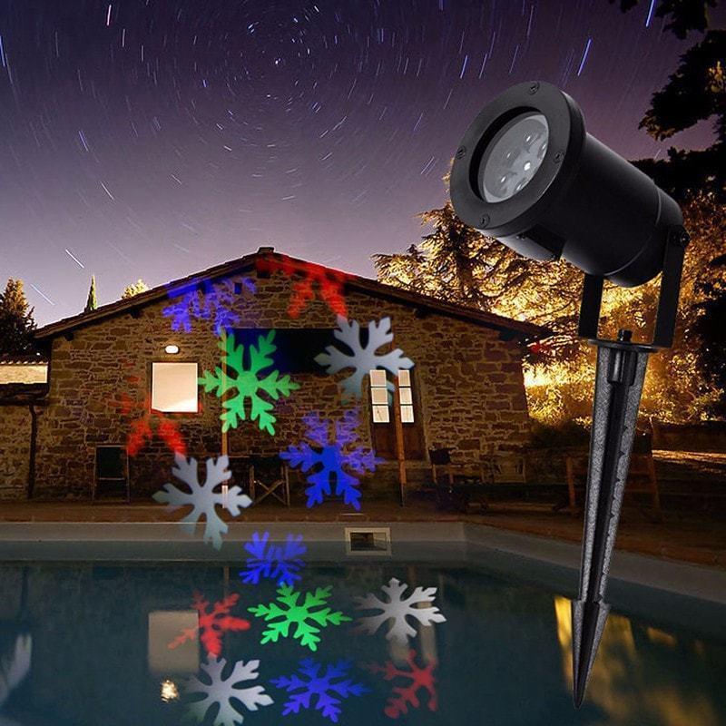 Лазерный Проектор LED Strahler Schneeflocke № ZP2